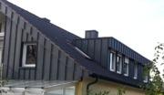 Flachdachgaube, Ortgang und Giebel modernisiert und bekleidet mit hochwertigen, beschichteten Aluminiumblechen