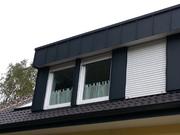 Gedämmte und neue bekleidete Gaube mit vergrößertem Dachüberstand