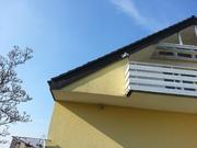 Teil des Giebels und des Ortgangs ohne Dachüberstand